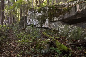 Massive rocks along the trail